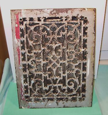 "Antique Cast Iron Heat Heater Furnace Register Grate Ornate Victorian 12"" X 16"""