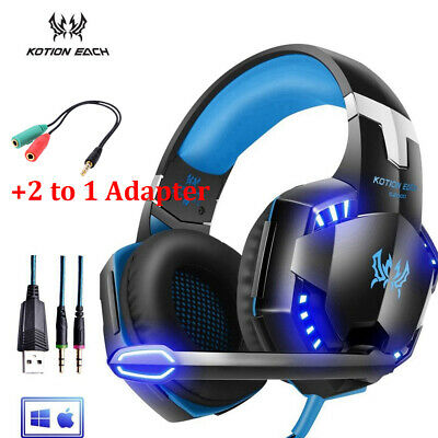 G2000 Cuffie da gioco Stereo Surround Gaming Headphone Microfono LED per PC PS4