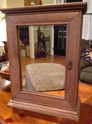 Medicine Cabinet Wood Antique Vintage New - Mirrored - Solid Wood