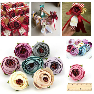 10pcs Small Silk Rose Bud Heads Artificial Fake Flower Wedding Party Decoration