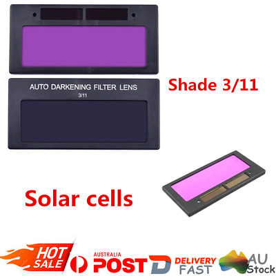 AU New Solar Panel Auto Darkening Welding Helmet Lens Filter Shade Tool 3/11