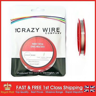 NI80 Nichrome 26 Gauge AWG (0.4mm) Resistance Wire- 50ft' Roll 2.64 ohms/ft