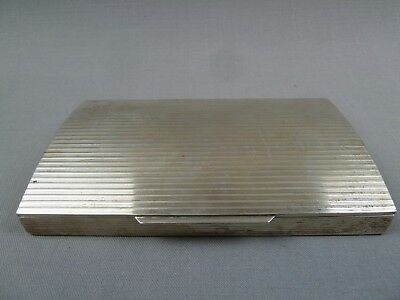 Silber 800 sehr qualitätsvolle Silberbox Etui Italien solid silver case Italy