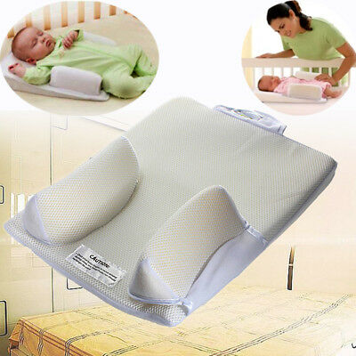 Newborn Infant Baby Anti Roll Pillow Sleep Prevent  Head Cushion Flat Positioner