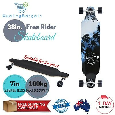 38in. Long Skateboard Longboard Complete Cruiser Deck Board Downhill Kids Skate