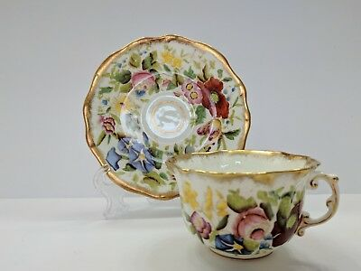 Vintage HAMMERSLEY QUEEN ANNE Fine Bone China Cup & Saucer Heavy GOLD
