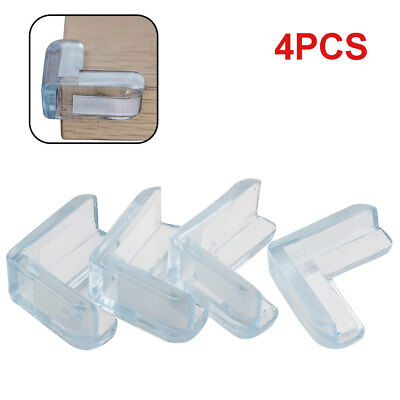 4PC Clear Rubber Furniture Corner Edge Table Cushion Guard Protector Baby Safty
