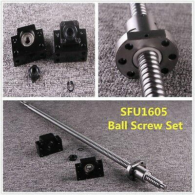 Ball Screw SFU1605 & Ball Nut L300MM - 1500MM & BK12/BF12 End Support CNC