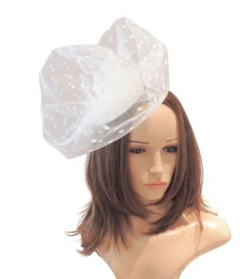 Ivory Fascinator  Hat for Weddings, Ascot ,Proms With Headband A8