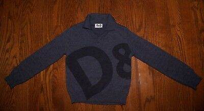 Dolce and Gabanna Boy's Sweater, Size 3, D&G Collared Sweater