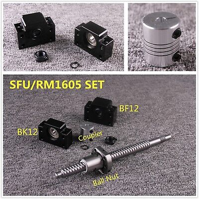 Ballscrew SFU1605 w Nut C7 L250-1050MM & BK12/BF12 & 6.35x10mm Coupler