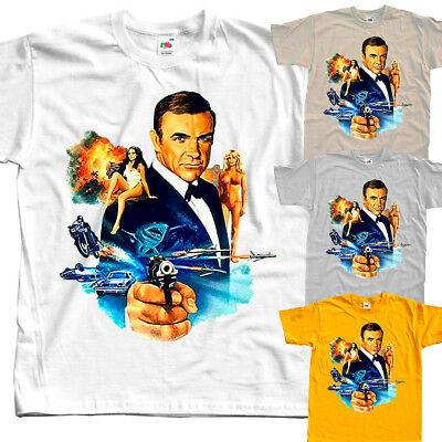 James Bond: Never Say Never Again V3, movie, T-Shirt (WHITE) All sizes S to 5XL