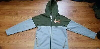 Under Armour Youth Boys Full Zip Cold Gear Storm Hoodie Sz L