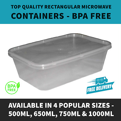Top Quality Food Prep Microwaveable Meal Prep Containers & Lids - All Sizes