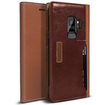 OBLIQ® Galaxy S9/S9 Plus [K3 Wallet] Hand Made Leather Luxury Flip Case Cover +