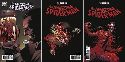 AMAZING SPIDER-MAN 794 795 796 variant 2nd print set CARNAGE RED GOBLIN NM 3/21