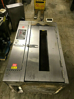 Hobart Natural Gas HBA1G Single Rack Bakery Roll In Oven w/ Cart