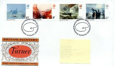 GB - FIRST DAY COVER - FDC - COMMEMS -1975- BRITISH PAINTERS - TURNER - Pmk PB