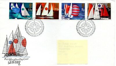 GB - FIRST DAY COVER - FDC - COMMEMS -1975- SAILING - Pmk PB