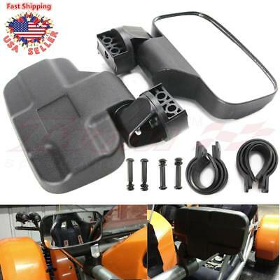 Side View Mirror Kit for UTV Offroad High Impact Break-Away Large Wide View Race