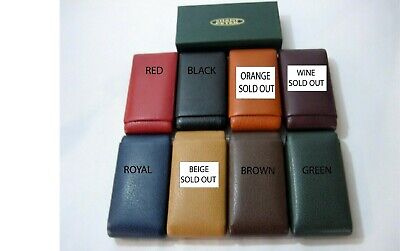 Genuine Leather Cigar Case's, durable, 7 colors, by SHANTPETER, MADE IN U.S.A.