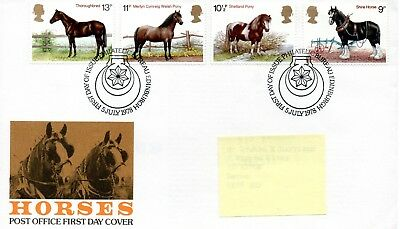 GB - FIRST DAY COVER - FDC - COMMEMS -1978- HORSES - Pmk PB