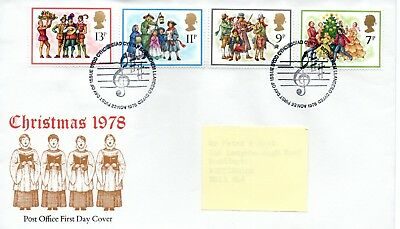 GB - FIRST DAY COVER - FDC - COMMEMS -1978- CHRISTMAS - Pmk Bethlehem