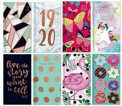 2019-20 A6 Size Slim Week to View Mid Year Academic Diary-Pocket Diary