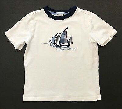 JANIE AND JACK Sailing Style Sailboat Short Sleeve Top Shirt Size 5 5T