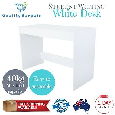 Writing Desk White Student Computer Home Business Office Kids Study Area Table