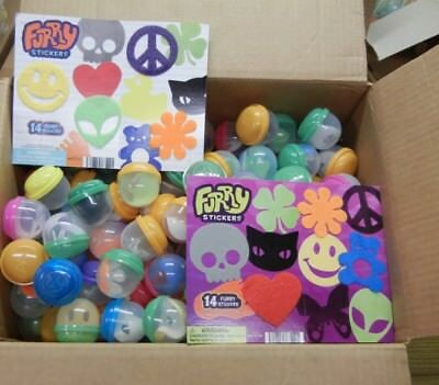 240 Furry Stickers in 2 inch capsules 2 Displays for selling in Vending Machines
