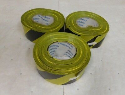 "Pro-Safe Barricade and Flagging Tape 1000 Ft x 3"" Lot of 3 Rolls 57349730"