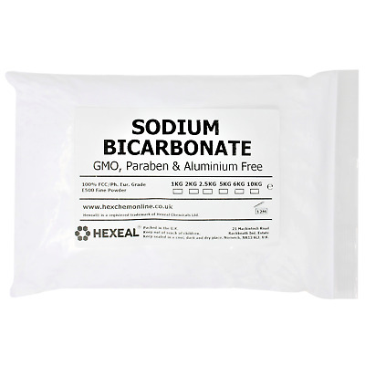 SODIUM BICARBONATE of Soda | 2KG BAG | 100% BP/Food Grade | Bath, Baking