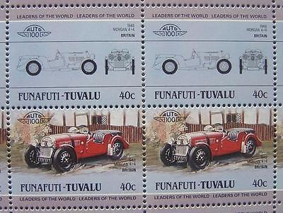 1948 MORGAN Motor Company 4/4 Car 50-Stamp Sheet / Auto 100 Leaders of the World