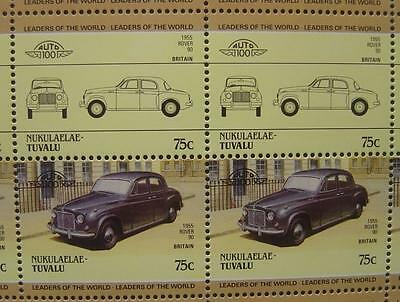 1955 ROVER P4 Model 90 Ninety Saloon Car 50-Stamp Sheet / Leaders of the World