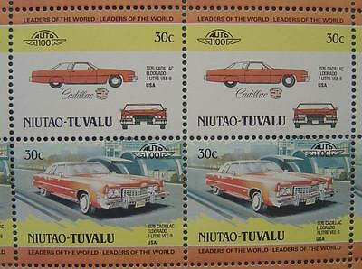1976 CADILLAC ELDORADO VEE-8 Car 50-Stamp Sheet / Auto 100 Leaders of the World