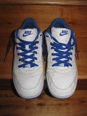Men's Nike AF1  Air Force 1 shoes Size 13 386114-144 White Blue Swoosh