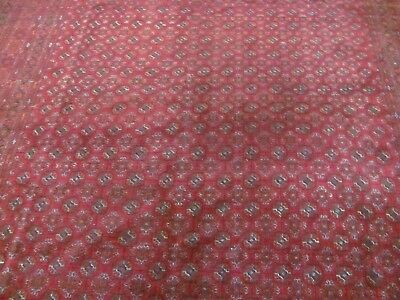 A WONDERFUL OLD HANDMADE AFGHAN WOOL ON WOOL ORIENTAL CARPET (340 x 240 cm)