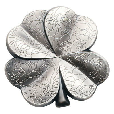 2018 Palau Fortune Four-Leaf Clover Shaped 1 oz Silver Antiqued BU OGP SKU51838