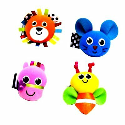 Sassy Wrist Rattles Set of 4, Styles May Vary