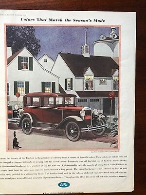 V 1930 Ford Three Window Four Door Sedan Old Car Ad
