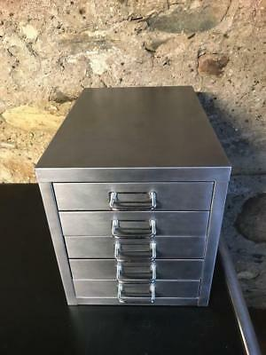 Industrial Stripped Metal 5 Drawer Filing Cabinet A4