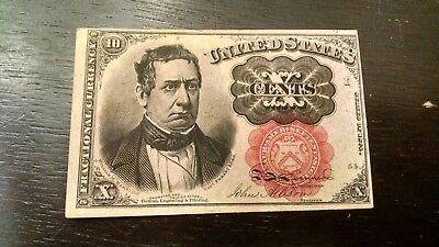 FR-1265 Series 1874 Fifth Issue Fractional Currency 10c Ten Cents-VF/XF PINHOLE