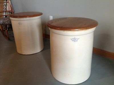 Rare Blue Crown 15 gallon Ransbottom Robinson Crock. 2 crocks available