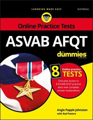 ASVAB AFQT for Dummies by Consumer Dummies Staff, Angie Papple Johnston and...