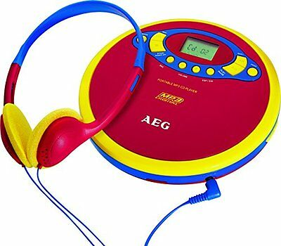 AEG CDP 4228 Tragbarer CD-Player - MP3 CD Spieler Discman Kids Line NEU / OVP