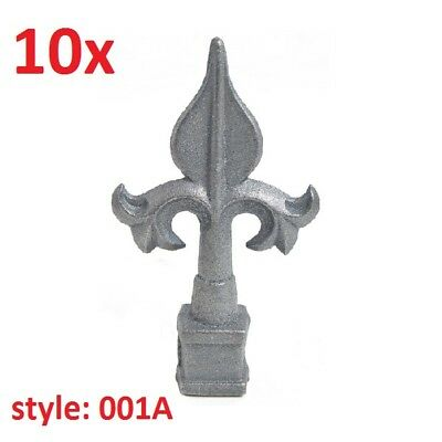"10x CAST IRON FENCE FINIALS - Style 001A - Various Fitments 1/2"" 5/8"" 3/4"""
