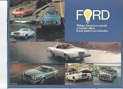 original 1977 Ford Full Line sales brochure
