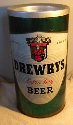 Vintage Drewrys South Bend Tin Beer Can Ashtray Trash Adverstising Display Sign