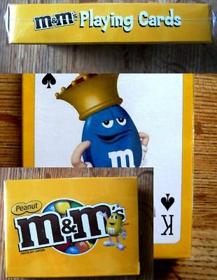 M&M Candies Playing Cards NEW IN PLASTIC (peanut) Yellow